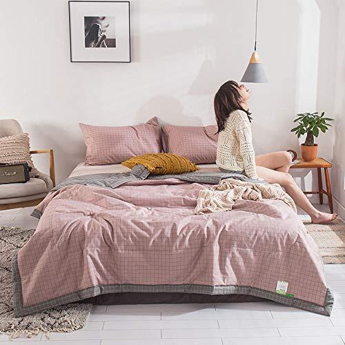 Meet Beauty Edredón de algodón de 4 Piezas Añadir Dos pillowcasas Impresas de algodón Verano Edredón Fresco Antipolvo, Antibacteriano, Anti-Olor-R_Traje de 150x200cm4