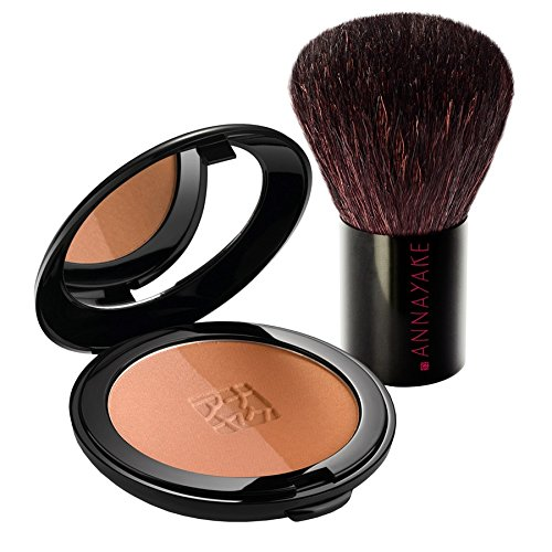 Annayake Duo Poudre Puder Effet Bronzant Set Make-up Set 10g + Pinsel