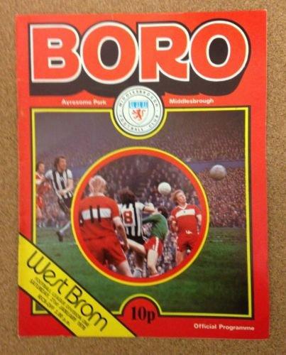 Middlesbrough West Brom Albion 21/01/78 AYRESOME Park football programme (GR1)