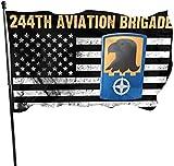 Jeewly 1st Armored Division Yard Flags 3 X 5 im Innen- und Außenbereich Dekorative Home Fall Flags Holiday Decor