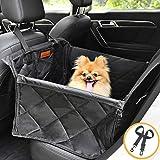 Looxmeer Hunde Autositz für Kleine Mittlere Hunde, Hundesitz Auto Autositzbezug mit Sicherheitsgurt und Verstärkter Wände für Rückbank, Wasserdicht & Reißfest, Hundedecke für...