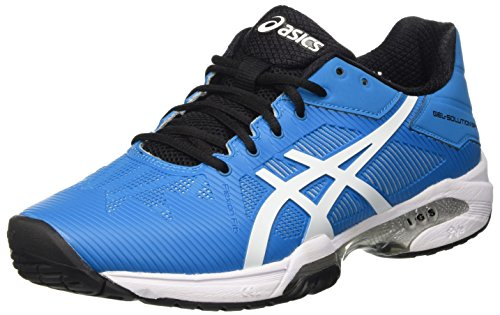 Asics Gel-Solution Speed 3, Zapatillas de Gimnasia para Hombre, BLU (Blue Jewel/White/Black), 39 EU