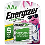 Energizer Rechargeable AA Batteries, 2,000 mAh NiMH, Pre-charged, Chargeable for 1,000 Cycles, 8...