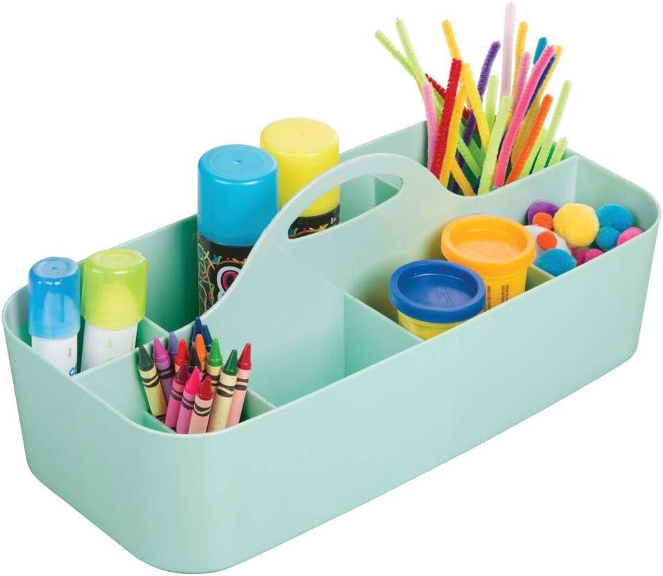 mDesign Plastic Portable Craft Storage Div Tote Charlotte Mall Organizer Same day shipping Caddy