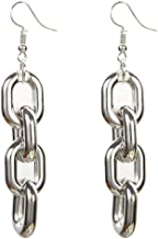 links silver earrings
