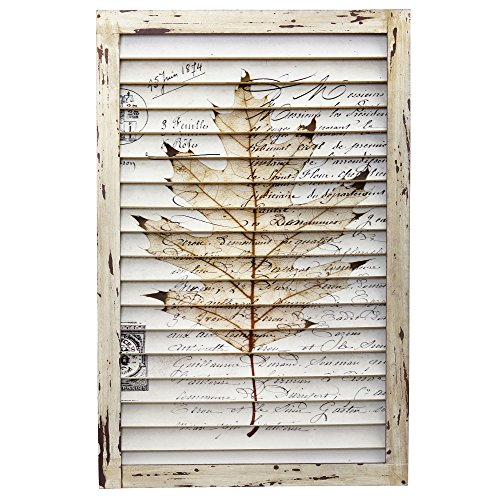 Nearly Natural 7023 Maple Leaf Window Shutter Wall Décor