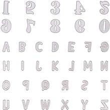 Fustelle in metallo a forma di lettere dellalfabeto maiuscole decorazioni in rilievo scrapbooking biglietti CA0boluoC per fai da te colore: argento