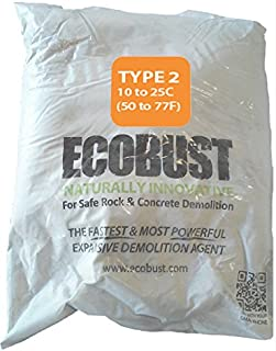 Ecobust USA Type 2 (50F to 77F) 11 Lb. Concrete Cutting & Rock Breaking Non-Combustive Demolition Agent