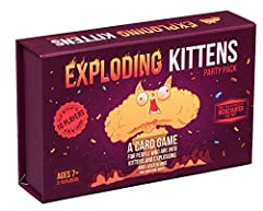 More than 9 million copies sold, breaking records in kids games, adult games and everything in-between. A highly strategic, kitty-powered version of Russian Roulette. Basically, if you draw an Exploding Kitten, you lose and you are full of loser sad-...