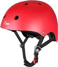 JBM Skateboard کلاه ایمنی CPSC ASTM تأیید شده در برابر مقاومت در برابر تأثیر مقاومت در برابر تهویه برای دوچرخه سواری اسکیت بورد اسکیت بازی غلتکی اسکیت بورد اسکیت بورد غلتکی غلتکی طولانی