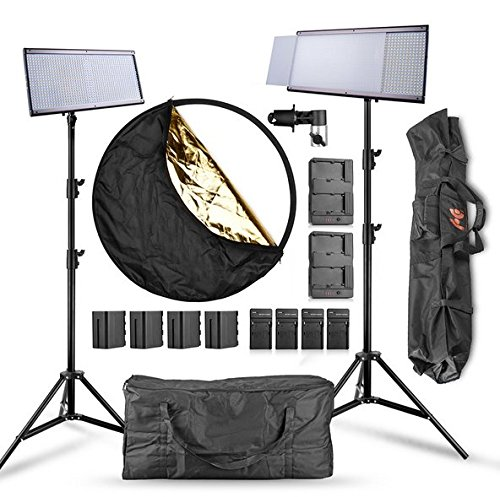 Gowe 2 unités/Lot High CRI 96 + 960 vidéo LED Panneau lumineux 58 W 5500 K Dimmeable Flat Panel Studio éclairage vidéo pour la photographie
