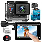 GeeKam Action Camera 4K 30fps Video 20MP Photos with Touch Screen Remote Control HD Sports Camera with Helmet Accessories Kit-T1