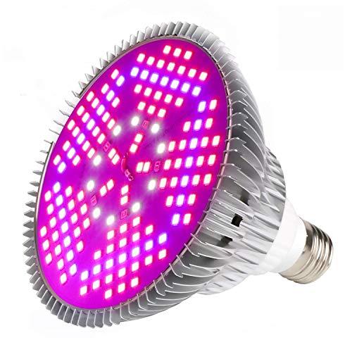 실내 식물용 LED 150개가 장착된 100W LED GROW LIGHT BULB FULL SPECTRUM PLANT LIGHT BULB E26   E27 SOCKET GROW LAMP FOR HYDROPONIC 실내 정원 온실 수밀 채소 꽃(100W 1PACK)