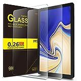 IVSO Bildschirmschutz für Samsung Galaxy Tab S4 T830/T835, 9H Festigkeit, 2.5D, Bildschirmfolie Schutzglas Bildschirmschutz Für Samsung Galaxy Tab S4 T830/T835 10.5 Zoll 2018, (2 x)