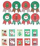 RTUTUR Tag 12pcs Sellado de Navidad Etiquetas Auto-Adhesivo de Etiquetas Elemento Patrón Pegatinas del Sello del sobre de Regalo Packaing