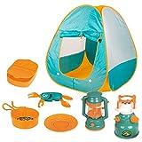 Benkeg Carpa para Camping - 8pcs Kids Play Tent Outdoor Camping Tools Set Toys para niños niñas