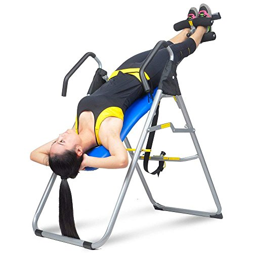 Best Price HYD-Parts Inversion Table,Back Therapy Fitness Back Pain Relief, Adjustable Folding Thera...