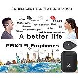 Volwco Dispositivo de traducción de Voz Mini inalámbrico BT5.0 Traductor en Tiempo Real con Caja de Carga, Compatible con 33 Idiomas para Viajar/Compras/reunión de Negocios