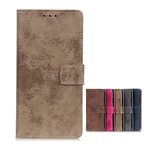 BaiFu Brieftasche Schutzhülle für Vivo NEX 3S 5G Hülle mit Kartenfach Etui Standfunktion & Magnetisch Handyhülle Leder Flip Lederhülle für Vivo NEX 3S 5G (Khaki)
