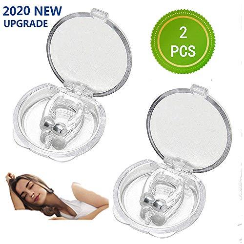 cscd Premium Nasenclip Bequem Anti Snoring Clip mit Magnet aus Medizinischem Silikon für Wirkung-Intensivieren