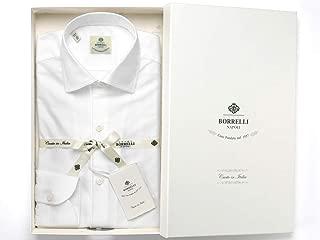 ルイジボレッリ ルイジボレリ LUIGI BORRELLI / 20SS!コットンカラミ織り無地イタリアンカラーシャツ「NISIDA(9051)」 (ホワイト) メンズ
