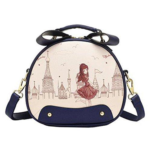 mode bourse, mignons dames belle ronde imprime sac à bandoulière,Élégant unique épaule sac à bandoulière,
