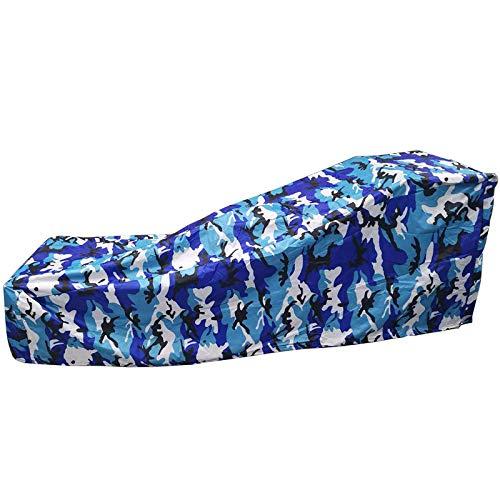 Outdoor Sunlounger Cover Anti-UV Waterproof Garden Rattan Patio Furniture Protector Sunbed Cover (210 * 75 * 80-40Cm),Ocean