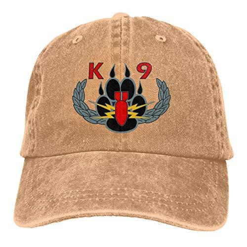 Sendyniu5 Explosives Detection K9 Denim Hats Baseball Cap Dad Hat