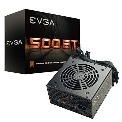 EVGA 500 BT, 80+ Bronze, 500W, 3 Year Warranty, Power Supply 100-BT-0500-K1