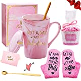 Gift Set for Woman - Coffee Mugs with Saying Socks' If You Can Read This,Bring Me Some Coffee' - Birthday Christmas Gifts for Mom, Wife, Sister, Friend - 13oz Ceramic Coffee Cups with Spoon