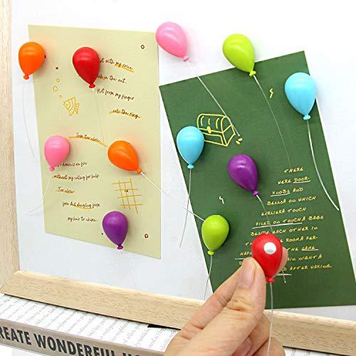 12 imanes de nevera con diseño de globos, imanes de nevera Cosylove para gabinetes de oficina, pizarras blancas, fotos, hermosos imanes decorativos para regalo de vacaciones, decorar el hogar