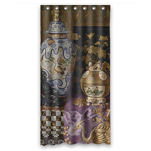 pilzoo baño cortinas de arte clásico todavía vida pintura poliéster ancho x altura/36x 72pulgadas/W H 90por 180cm best Fit para mujer niños parejas niños Kids. Con ganchos. Tela