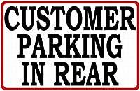 後部ティンサイン壁の鉄の駐車場の顧客駐車場レトロプラークヴィンテージ金属シート装飾ポスター面白いポスターぶら下げ工芸品バーガレージカフェホーム