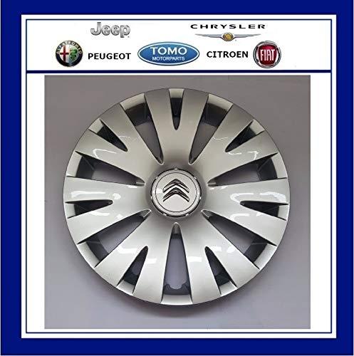 4x ORIGINAL Citroen Radkappe Radblende SILBER 15 Zoll FEROE 98136143VV BERLINGO