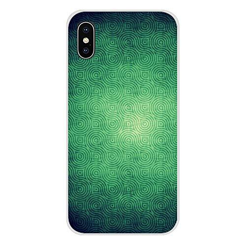 XMCJ Hermosas fundas de purpurina verde esmeralda para Samsung Galaxy S2, S3, S4, S5 Mini, S6, S7 Edge, S8, S9, S10E Lite Plus (color: imágenes 8, material: para Galaxy S5 Mini)