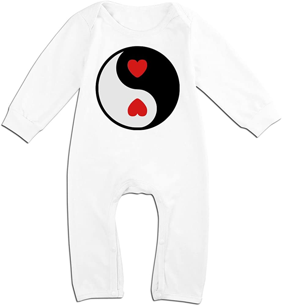 Alipapa Boys /& Girls Yin Yang Heart Funny Tshirt White