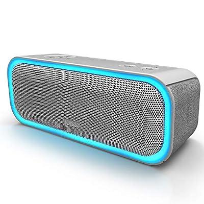 DOSS SoundBox Pro Wireless Bluetooth Speaker, 20W Speaker with 360° Sound, Enhanced Bass, Stereo Pairing, Multiple LED Light, Long-Lasting Battery Life for Phone, Tablet, TV, Gift Ideas-Grey from Wonders