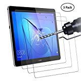 Didisky Panzerglas Hartglas Bildschirmschutzfolie für Huawei MediaPad T3 10.0 Zoll, [ 3er Pack ] Kratzfest, 9H Festigkeit, Keine Blasen, High Definition, Einfach anzuwenden, Fall-fre&lich