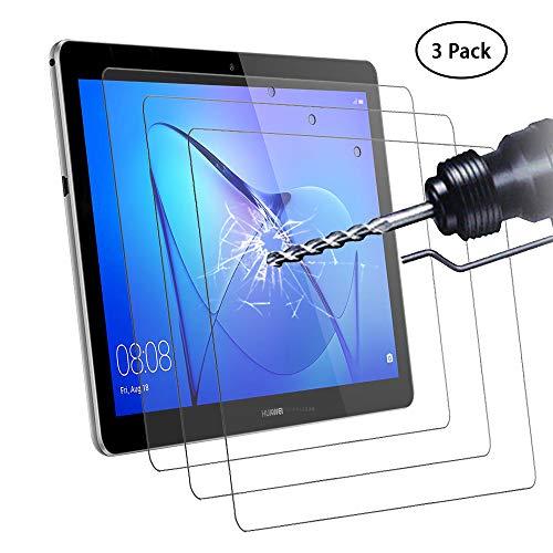Didisky Pellicola Protettiva in Vetro Temperato per Huawei MediaPad T3 10.0 inch, [Tocco Morbido ] Facile da Pulire, Facile da installare, Trasparente (3Pezzi)