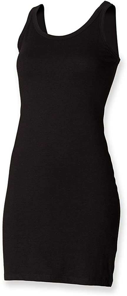 Skinni Fit Ladies/Womens Extra Long Stretch Tank Top/Vest