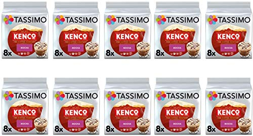 Tassimo Kenco Mokka Kaffeepads - 10 Packungen (80 Getränke)