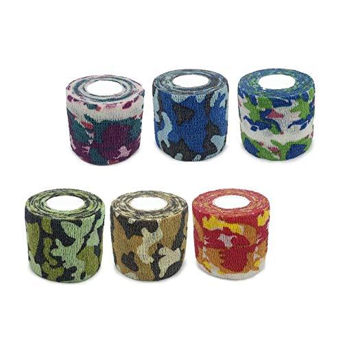 6 stks/set kleur zelfklevende verband huisdier afdrukken elastische tape vinger pols sport kniesteun ondersteuning vaste bandages