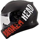 Broken Head BeProud Carbon Ltd. - Leichter Racing Motorradhelm & Integralhelm - Matt-Schwarz & Rot -...