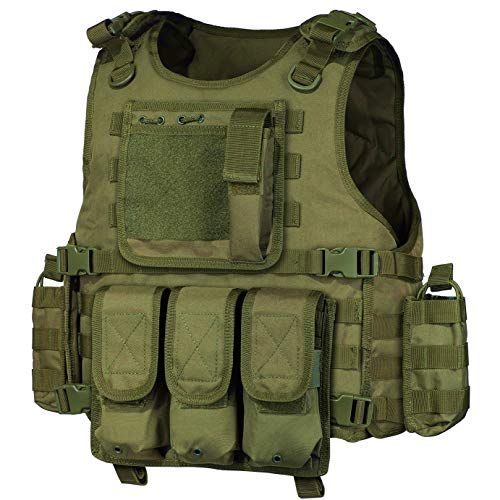 GZ XINXING Black Tactical Airsoft Paintball Vest (Green)