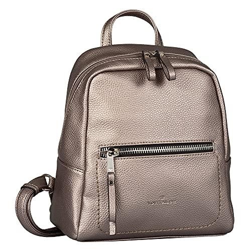 TOM TAILOR bags TINNA Damen Rucksack S, old silver, 24x10,5x25