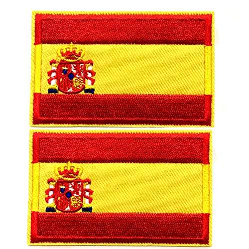 BANDERA DEL PARCHE BORDADO PARA PLANCHAR O COSER (España 5.5cm)