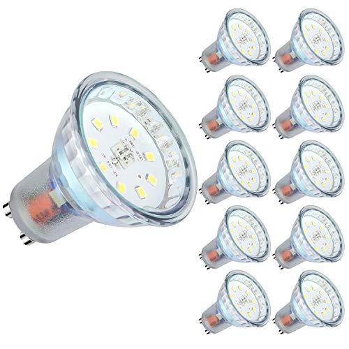 GU10 LED Neutralweiss, 5W 600 Lumen LED Lampe Ersatz für 60W Halogenlampen, Neutralweiß 4500 Kelvin, 120° Abstrahlwinkel, CRI>80, 220-240V AC (10 Stück)