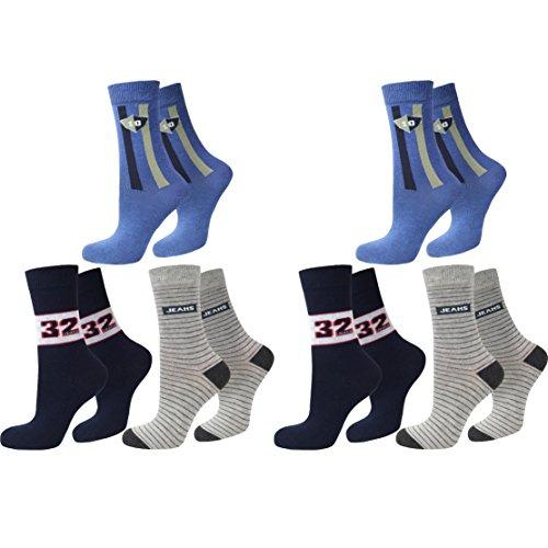 C&C KIDS C&C KIDS Kinder Socken,6Pack,39/42,Motiv Jean