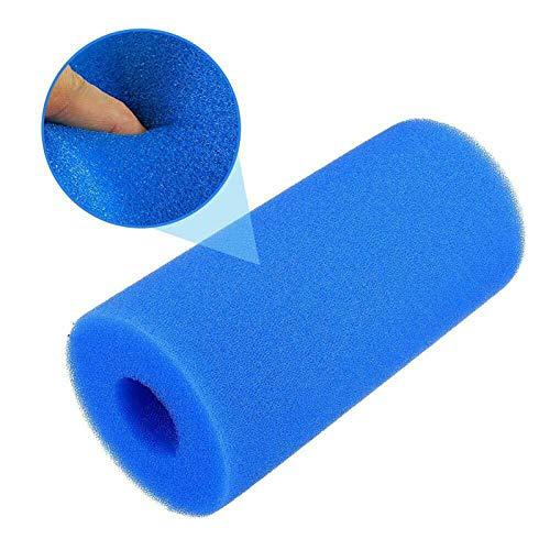 LZH FILTER 4 Piezas Esponja Filtro de Piscina Azul (200x100 Mm) , Filtro de Piscina SPA , Esponja Filtro Espuma Tipo A Reutilizable, para SPA Acuario Piscina