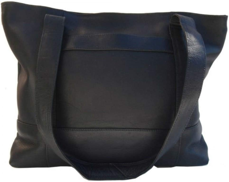 Price reduction Our shop OFFers the best service Piel Leather Outdoor Travel Portable Black - Top-Zip Bag Tote